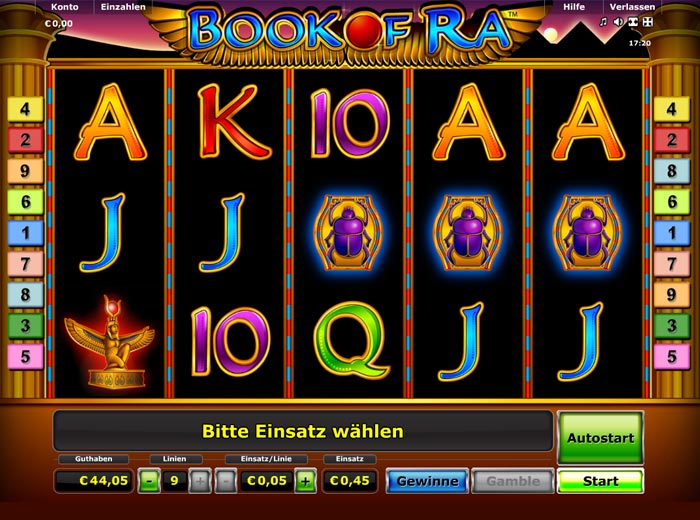 euro casino online buch of ra