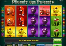 Plenty on Twenty – das lebhafte Automatenspiel von Novoline