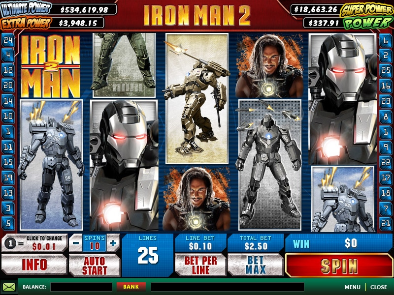 Iron Man 2 von Playtech